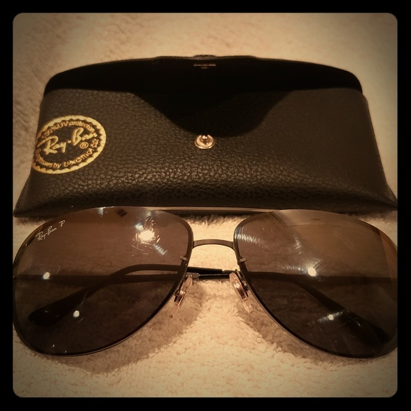 Ray Ban LightRay Aviator sunglasses w/ case